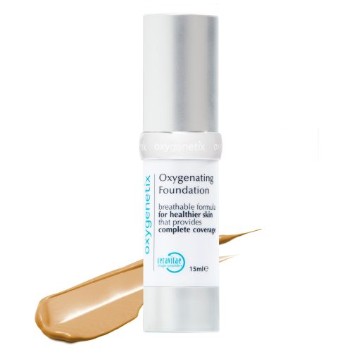 Oxygenetix full coverage foundation for acne scars rosacea post-surgery sensitive skin makeup