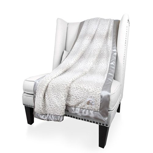 Little Giraffe Luxe Snow Leopard Throw