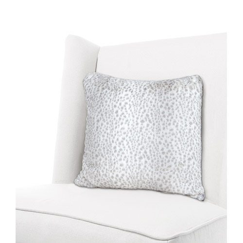 Little Giraffe Luxe Snow Leopard Throw Pillow