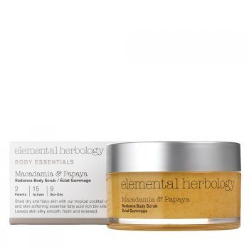 Elemental Herbology Macadamia & Papaya Radiance Body Scrub