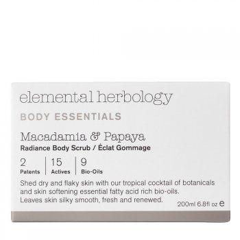 Elemental Herbology Macadamia & Papaya Radiance Body Scrub