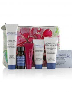 Glowbiotics Probiotics Deluxe Trial Kit for combination to oily skin